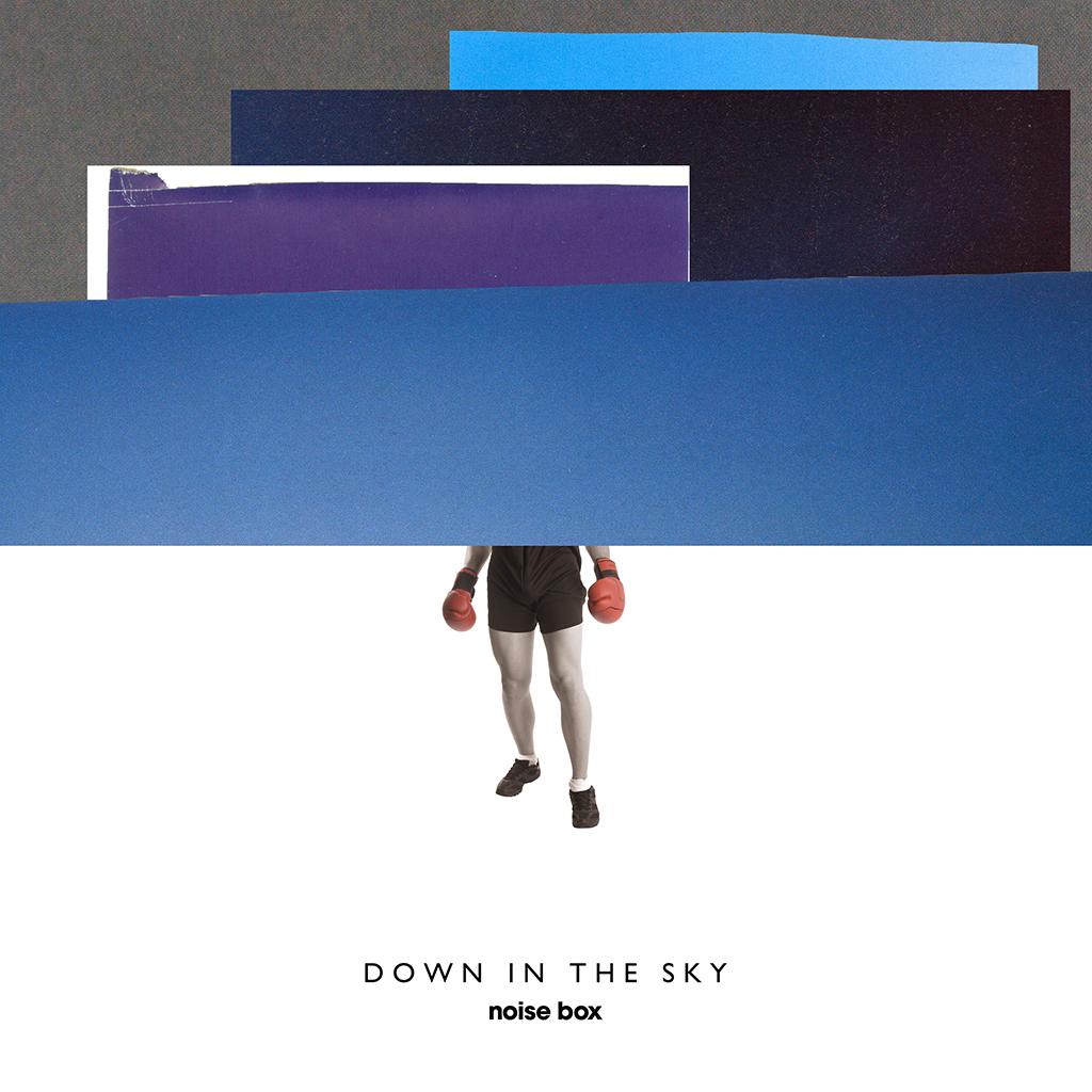 """Portada de """"Down in the Sky"""". Diseño: Arantxa Rueda y Mariano Fiore"""